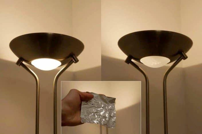 Två olika golvlampsljus