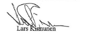 Lars Kinnunen signatur