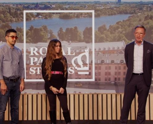 Lukas, Felicia och Lars på scen