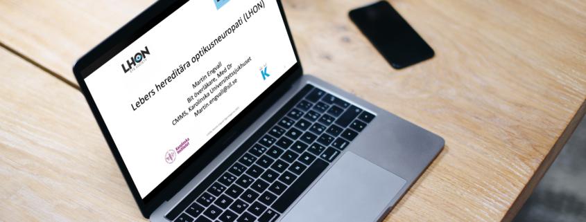 Dokument visas på skärm på bärbar dator